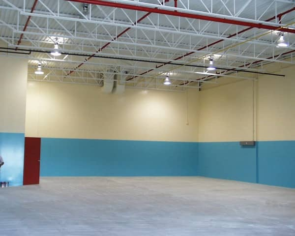Commercial rental unit repainted to new tenants colors.